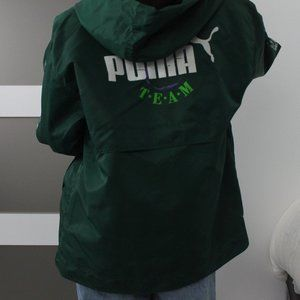 Retro Dark Green Puma Windbreaker